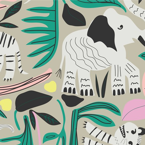 Jungle Forest BARKCLOTH