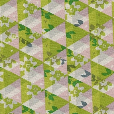 Kaleidoscope in Citron UNBLEACHED COTTON