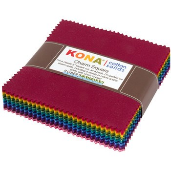 Kona Cotton Dark Colorway Charm Pack
