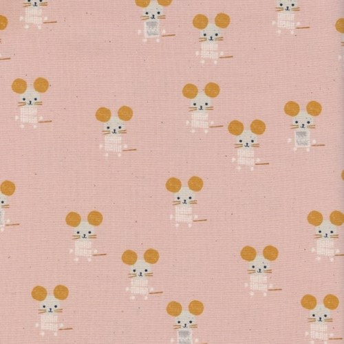 Little Friends in Pink UNBLEACHED COTTON