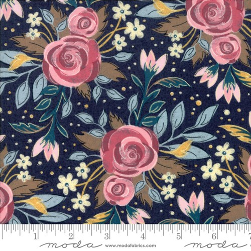Lush Floral in Navy