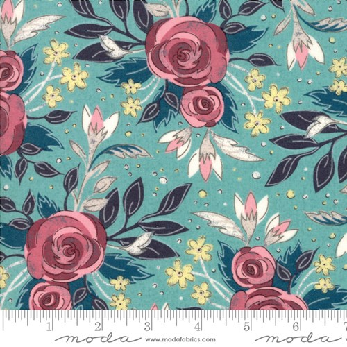 Lush Floral in Turquoise