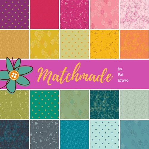 PREORDER-Matchmade Fat Quarter Bundle by Pat Bravo