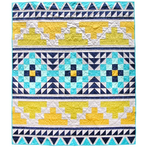 Mayan Mosaic Quilt Pattern by SuzyQuilts