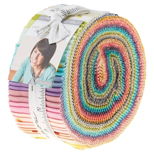 Ombre Confetti Metallic Jelly Roll by V and Co