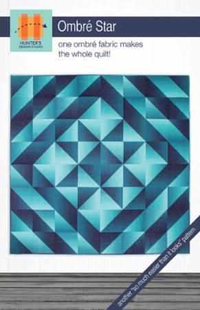 Ombre Star Quilt Pattern by Sam Hunter