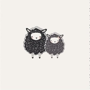 One Sheep Two Sheep PANEL in Soft