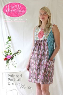 Painted Portrait Blouse and Dress Pattern
