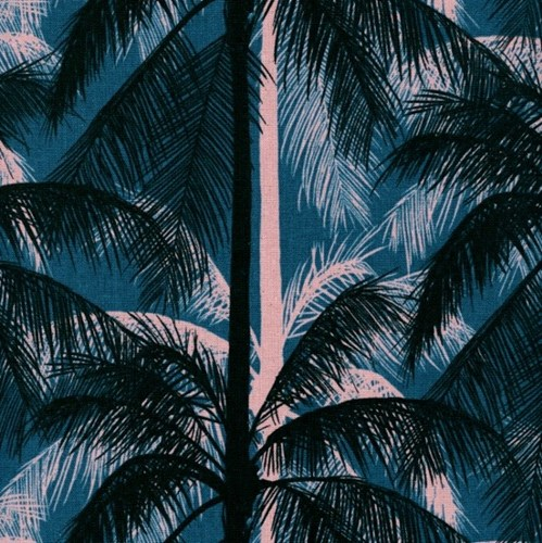 Palms in Blue CANVAS