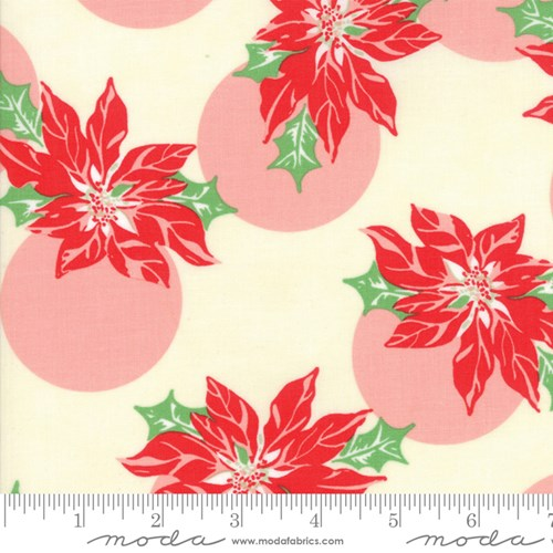 Poinsettia Polka Dot in Cream