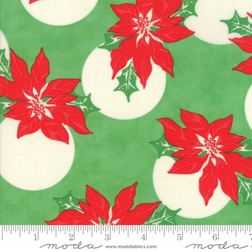Poinsettia Polka Dot in Green