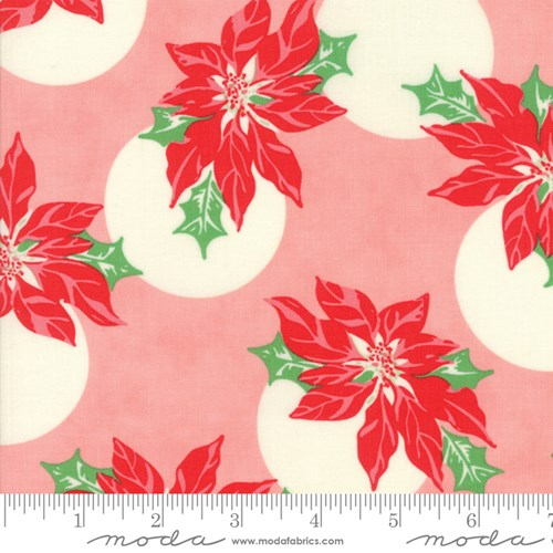 Poinsettia Polka Dot in Pink