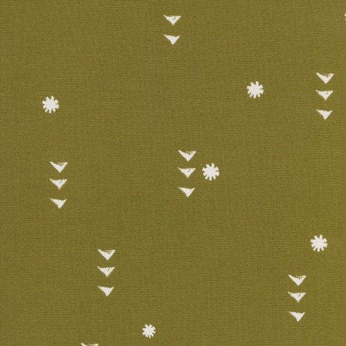 Rain in Olive UNBLEACHED COTTON