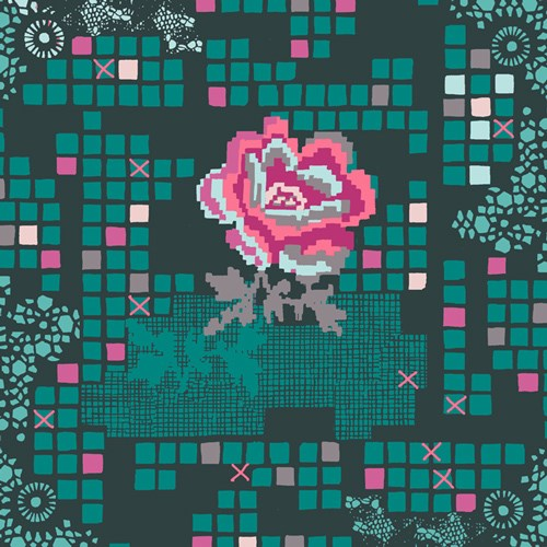Rose Circuit in Teal