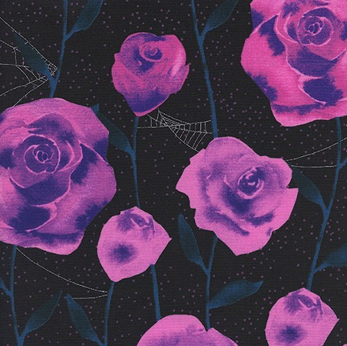 Roses in Black Metallic