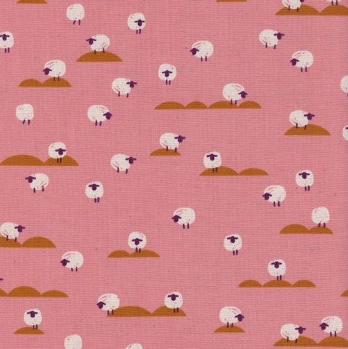 Sheep in Sunrise UNBLEACHED COTTON