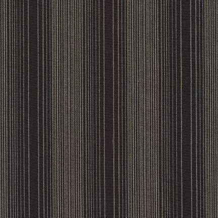 Shimmer on Yarn-Dyed Stripes in Charcoal