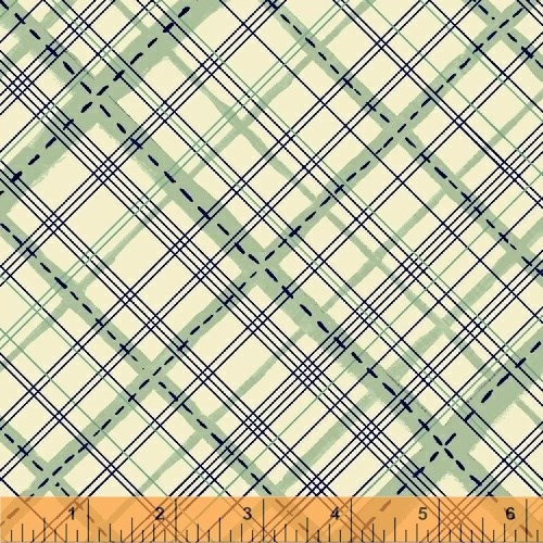 Stitched Plaid in Sea Glass