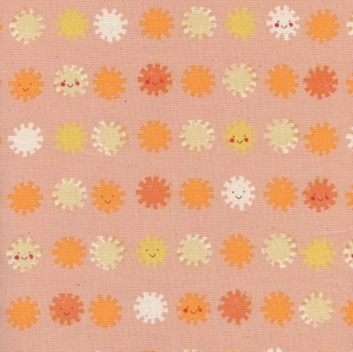 Sunshine in Peach UNBLEACHED COTTON