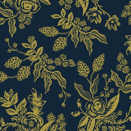 Toile in Navy Metallic