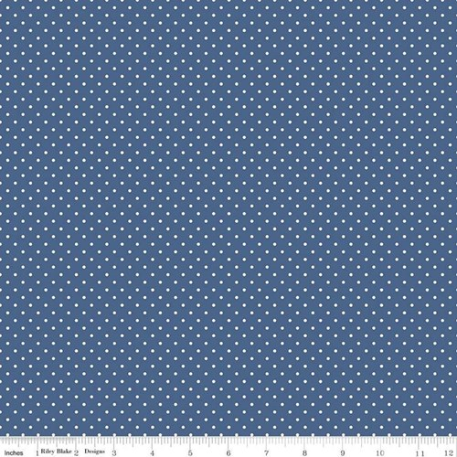 White Swiss Dots - Denim