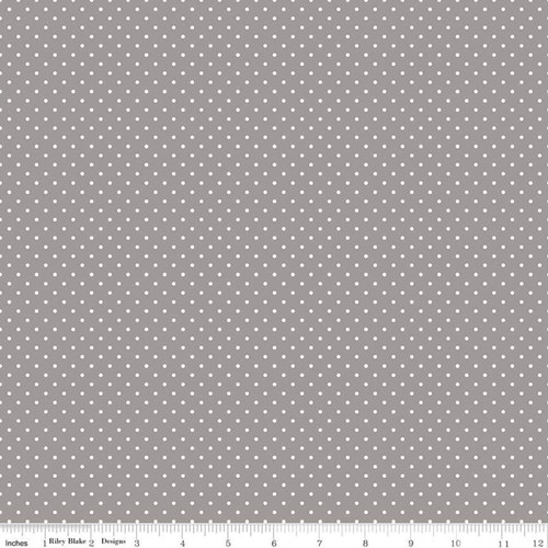 White Swiss Dots - Gray