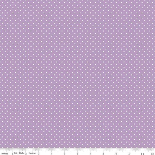 White Swiss Dots in Lavender