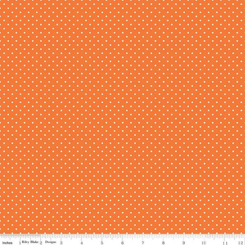 White Swiss Dots - Orange