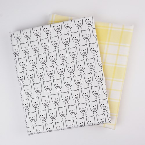 Whole Cloth Quilt Kit - Owls and Yellow Brooklyn Flannel