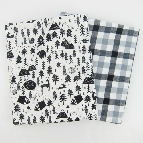 Whole Cloth Quilt Kit - Harvest Moon and Mammoth Flannel