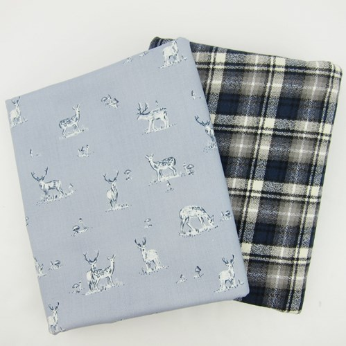 Whole Cloth Quilt Kit - Stags and Mammoth Flannel