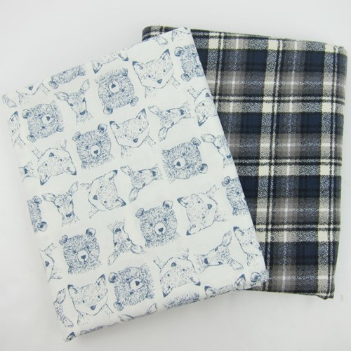 Whole Cloth Quilt Kit - Woodland Critters and Mammoth Flannel