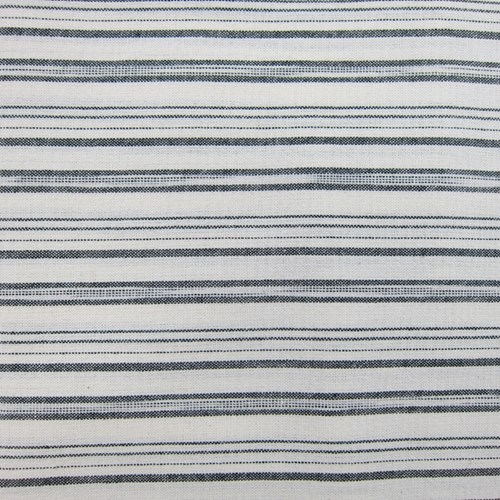 Yarn-Dye Stripe in Black and Ivory