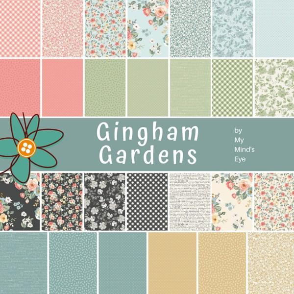 Gingham Gardens Rolie Polie by My Mind/'s Eye Riley Blake Designs-
