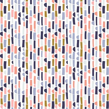Abstract Collage Stripe - Muted