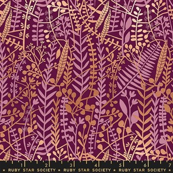 Airflow Floral Tapis - Metallic Purple Velvet