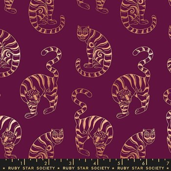 Airflow Tiger in the Taiga - Metallic Purple Velvet