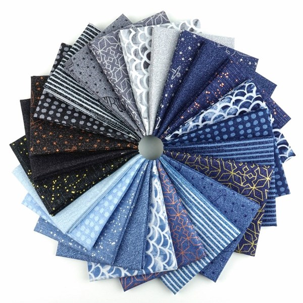 Almost Blue Fat Quarter Bundle by Libs Elliott