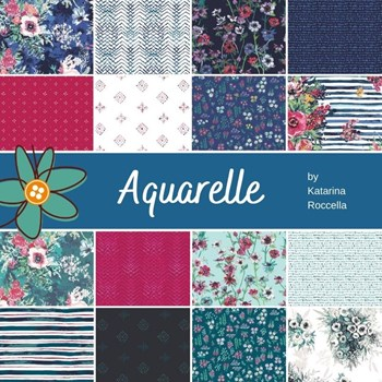 Aquarelle Fat Quarter Bundle | Katarina Roccella | 16 FQs