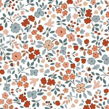 Autumn Floral - White