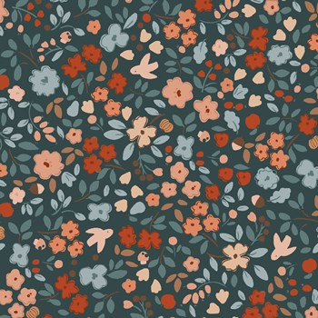 Autumn Floral - Carbon