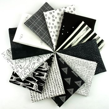 Color Play Black and White Fat Quarter Bundle - Fat Quarter Bundle