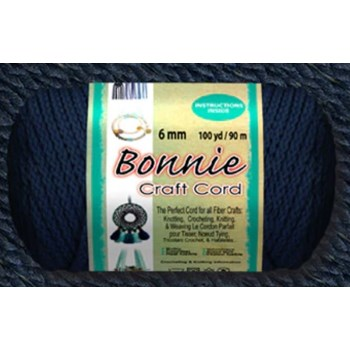 Bonnie Macrame Craft Cord 6mm x 100yd - Navy