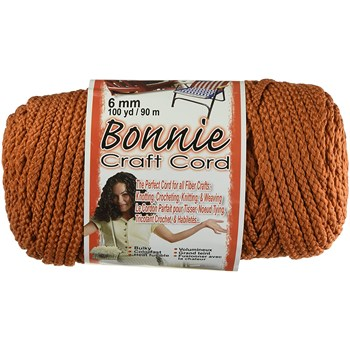 Bonnie Macrame Craft Cord 6mm x 100yd - Rust