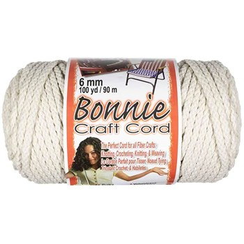 Bonnie Macrame Craft Cord 6mm x 100yd - Lamb's Wool