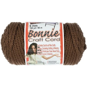 Bonnie Macrame Craft Cord 6mm x 100yd - Almond