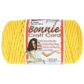 Bonnie Macrame Craft Cord 6mm x 100yd - Sunshine Yellow