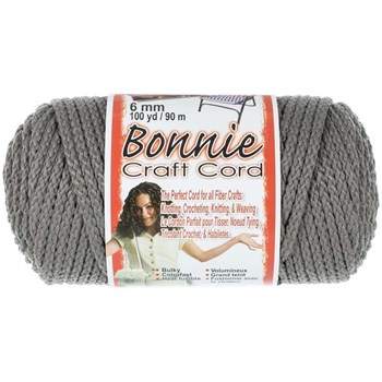 Bonnie Macrame Craft Cord 6mm x 100yd - Smoke Gray