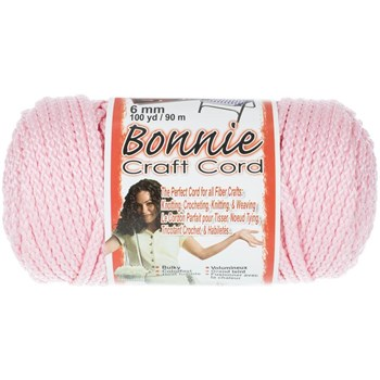 Bonnie Macrame Craft Cord 6mm x 100yd - Pink