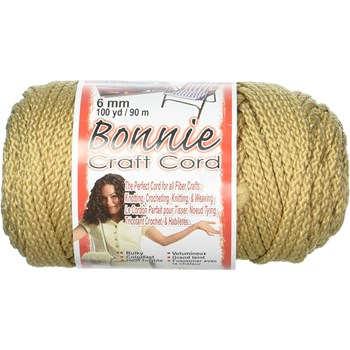 Bonnie Macrame Craft Cord 6mm x 100yd - Tan